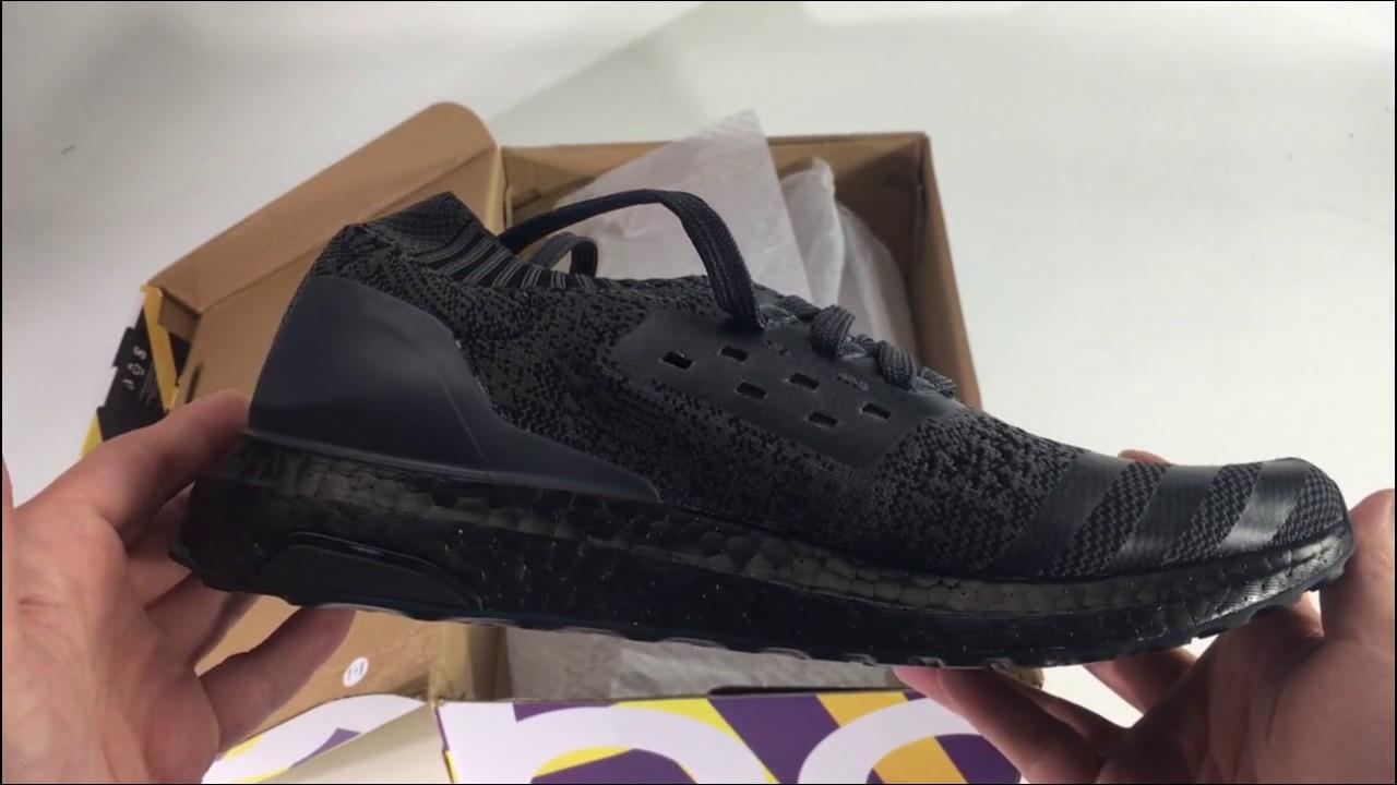 3e7066c00 NEW 2017 UA Adidas Ultra Boost Uncaged Triple Black. Shoes Gather