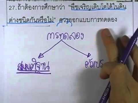 ข้อสอบO-NET ป.6 ปี2552 : วิทย์ ข้อ27