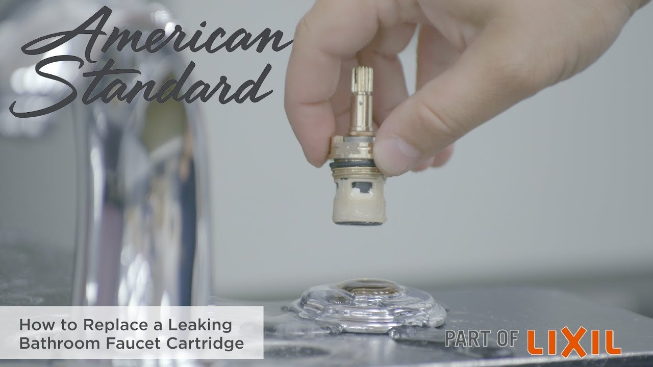 how to replace a leaking bathroom faucet cartridge