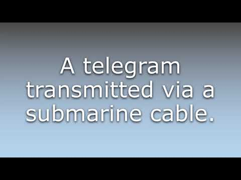 What does Cablegram mean?