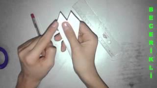 Kağıttan Kunai Yapımı #1