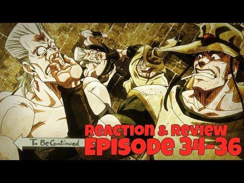 JoJo's Bizarre Adventure Stardust Crusaders   REACTION & REVIEW - Episode 34-36