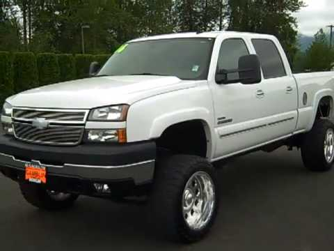 SOLD - 2006 Chevrolet Silverado 2500 Lifted White Crew Cab ...
