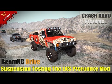 BeamNG Drive - Suspension Testing The LKS Prerunner Mod (4k 60fps)