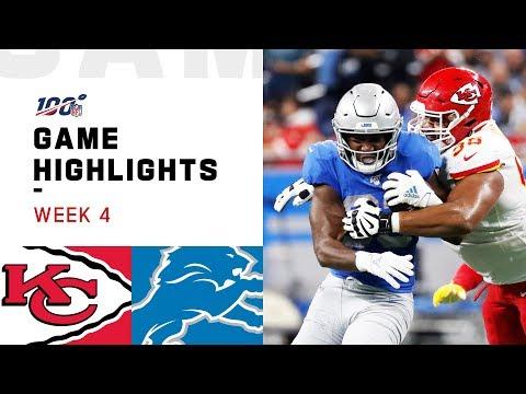 Chiefs vs. Lions Week 4 Highlights | NFL 2019