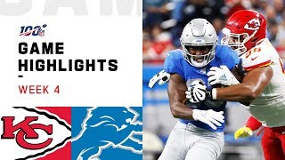 Chiefs vs. Lions Week 4 Highlights | NFL 2019