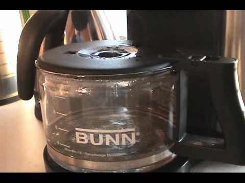 Problem with Bunn NHBX Coffee Maker Lid