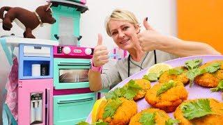 Kochen mit Nicole. Spaß mit Schoko und Maria. Einfache Kochrezepte auf Deutsch.