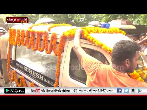 Mangaluru: Mortal remains of RSS worker Sharath taken to hometown in procession
