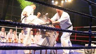 Pokaz Ostrołęckiego Klubu Karate Kyokushin w Lelisie