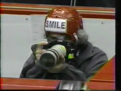 Hockey Photographer Bruce Bennett shown on Sportscannel - 2000