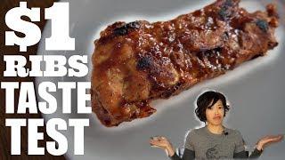 $1 Ribs Taste Test DOLLAR STORE Riblets