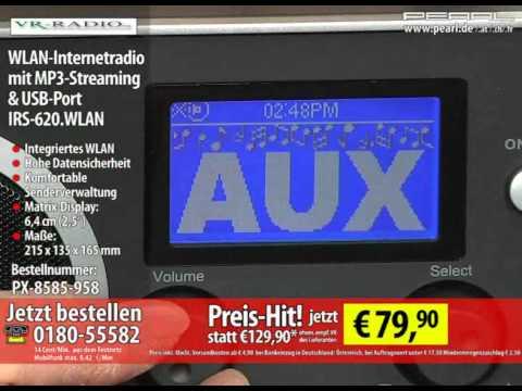 VR-Radio WLAN-Internetradio mit MP3-Streaming & USB-Port IRS-620.WLAN