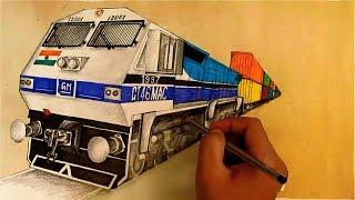 GT46MAC WDG4 12001 Locomotive Sketching [Indian Railways]