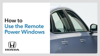 homepage tile video photo for How to Use the Remote Power Window Control