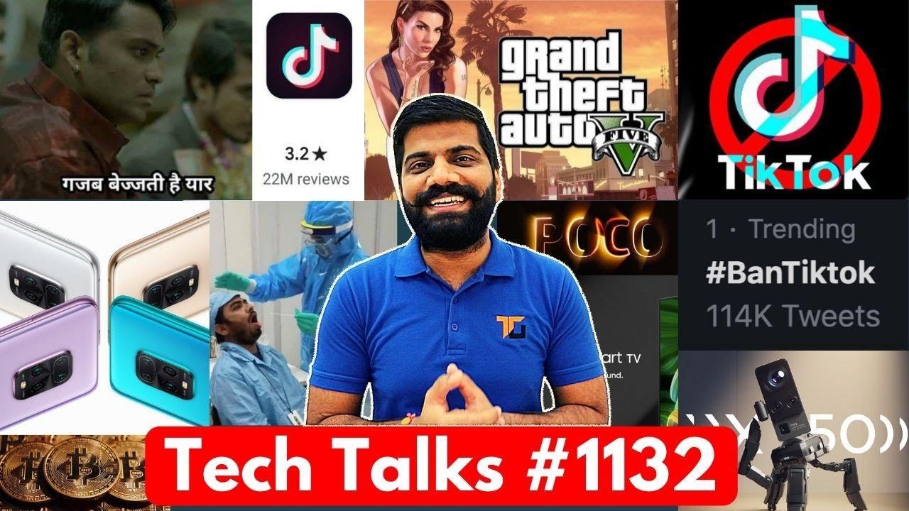 Charlas tecnológicas # 1132 - TikTok 1 Star, GTA V Problema, TikToker en problema, Redmi 10x, Oppo Factory Corona + vídeo