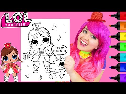 Coloring LOL Surprise Majorette & Lil Sister Coloring Page Prismacolor Markers | KiMMi THE CLOWN