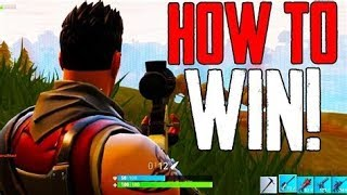 HOW TO GET YOUR FIRST SOLO WIN IN FORTNITE (easy)