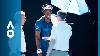 Djokovic and Monfils' challenge mix-up | Australian Open 2018