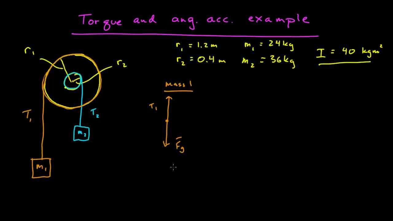 Torque Amp Angular Acceleration Example Youtube