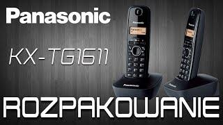 Panasonic KX-TG1611  -  Bezprzewodowy telefon stacjonarny [ROZPAKOWANIE]