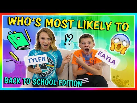 WHO'S MOST LIKELY TO? BACK TO SCHOOL EDITION | We Are The Davises