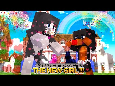 Minecraft - NEW GIRL IN TOWN w/ CASSIE THE CAT - Little Baby Max