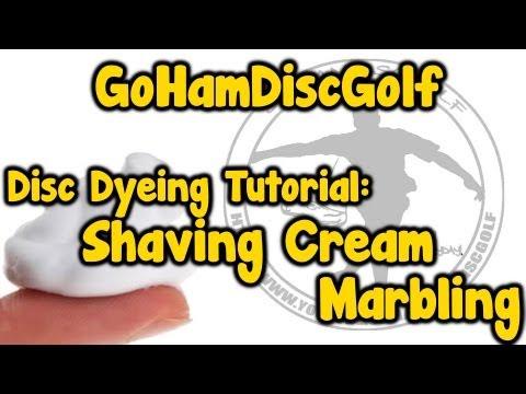 Disc Dyeing Tutorial: Shaving Cream Marbling