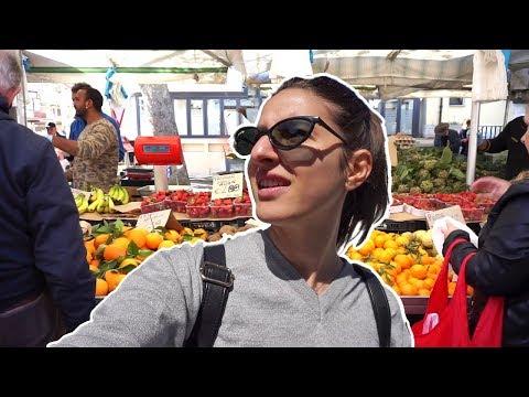 Italian Market + beach near Rome | Vlog
