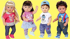 Baby Born 4 Brother and Sisters, Baby Dolls care and play routine pretend play