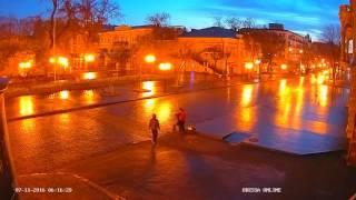 Рассвет на Дерибасовской. Odessa ONLINE.(Одесса. Дерибасовская. #OdessaONLINE#Odessa#Одесса#Дерибасовская., 2016-11-08T08:36:23.000Z)