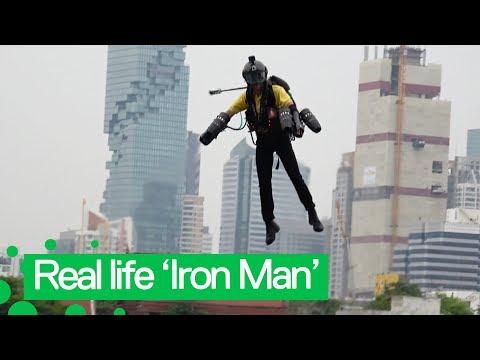 British 'Iron Man' Flies Jet Suit in Bangkok