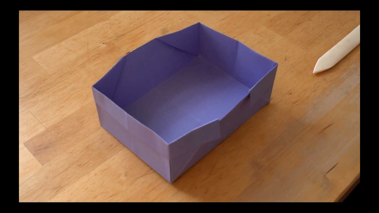 how to make an origami box falte dir eine origami schachtel youtube. Black Bedroom Furniture Sets. Home Design Ideas