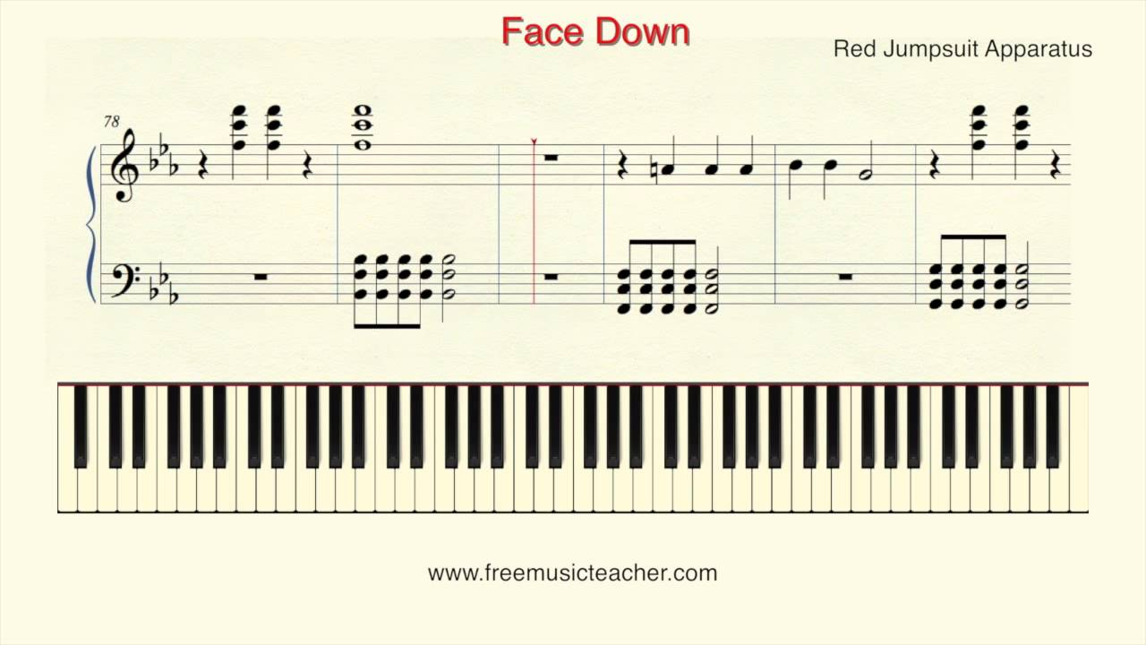 how to play face down on piano