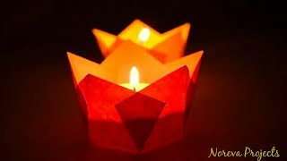Christmas Paper Candle Holder Easy | DIY Lamp Holder from Paper | #christmascrafts
