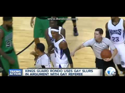 Rajon Rondo Suspended  For calling  Bill Kennedy A F*ggot - So we suspended for this now ?