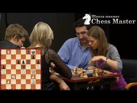 Карлсен против Крамника с девушками - Веселый блиц! Шахматы.