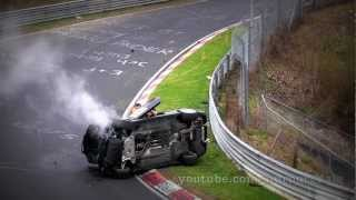 BMW M3 E46 Roll-over crash in Nürburgring VLN race