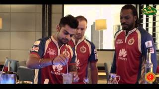 "RCB Signature Cocktail - ""Royal Sweep"" - Starring Virat Kohli, Chris Gayle, AB de Villiers"
