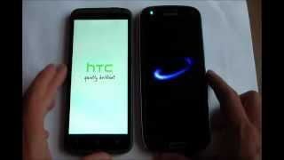 Boot Up Test || HTC One X vs Samsung Galaxy S3 ||