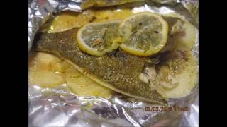 Камбала НЕЖНЕЙШАЯ на картофельной подушке. /flounder diet on a potato pillow