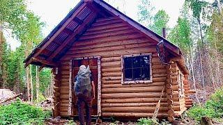 Remote Off Grid Log Cabin: Solo Wilderness Trip
