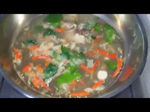 ต้มยำปลานิล  (Tom Yum Tilapia Fish) สูตรสาวอีสานบ้านทุ่ง