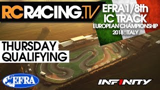 EFRA 1/8th Track Euros - Thursday, Qualifying - LIVE