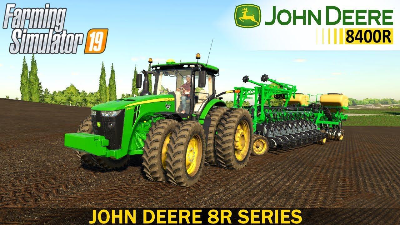 farming simulator 19 john deere 8r series tractor youtube. Black Bedroom Furniture Sets. Home Design Ideas