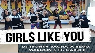 GIRLS LIKE YOU by MAROON 5 FT. CARDI B | Jingky Moves | Bachata Remix | Zumba® | Dance Fitness