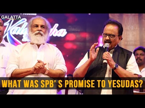 What was SPB' s promise to Yesudas?