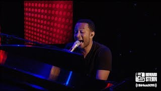 "John Legend ""Dancing in the Dark"" on the Howard Stern Show"