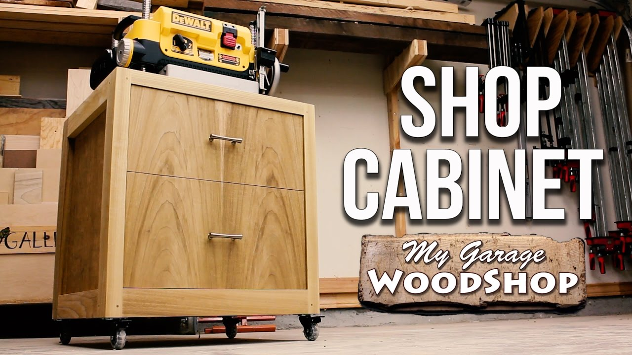 Woodworking  Shop Cabinet  YouTube