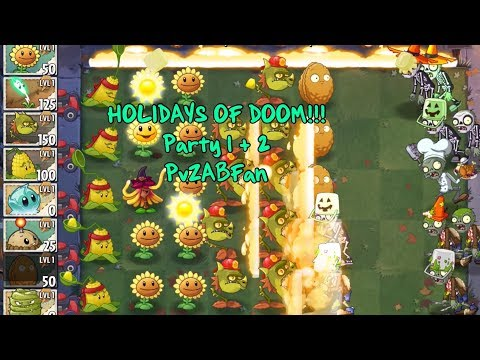 SPOOPY PARTY | Plants vs Zombies 2: Holidays of DOOM!!!